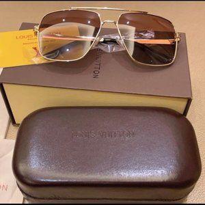 Louis Vuitton Sunglasses Brown Gold YS020